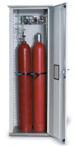 Gasflessenkast model G.215.070, 700x400x2150mm