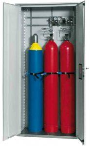 Gasflessenkast model G.215.100, 1000x400x2150mm