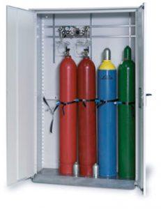 Gasflessenkast model G.215.135, 1350x400x2150mm